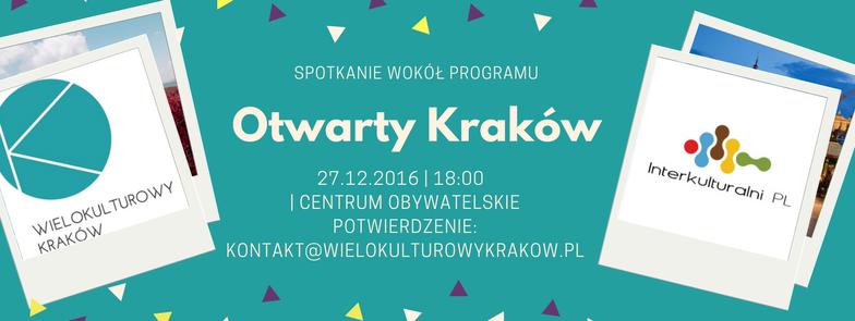 Spotkanie organizowane przez Wielokulturowy Kraków dotyczący programu miejskiego Otwarty Kraków